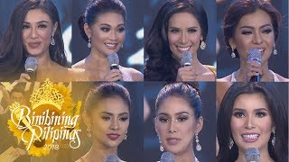 Binibining Pilipinas 2018: Top 1-7 Question & Answer Portion