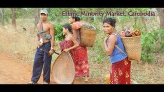 Asian, Cambodia, Rural Market on Early Morning
