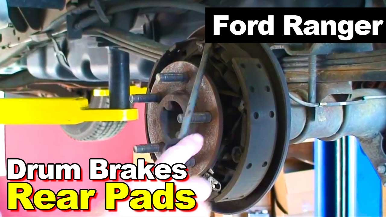 2003 Ford Ranger Drum Brake Shoes Replacement Youtube