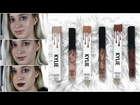 Kylie Jenner Metal Matte Lip Kit | Review + Swatches