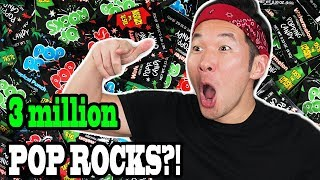 3 MILLION SUBSCRIBERS CELEBRATION!! with 3 Million Pop Rocks!