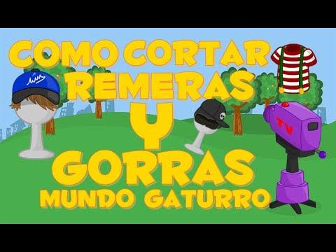 Cortar remera & Gorras Mundo Gaturro (2014 Bien explicado).