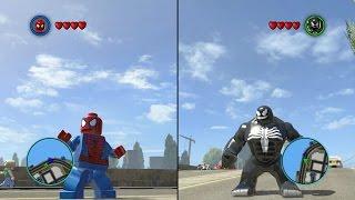 LEGO Marvel Super Heroes - Spider-Man vs Venom - CoOp Fight | Free Roam Gameplay [HD]
