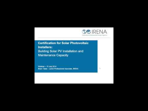 Vocational Training in the Renewable Energy Sector: Sharing Best Practices and Lessons Learned
