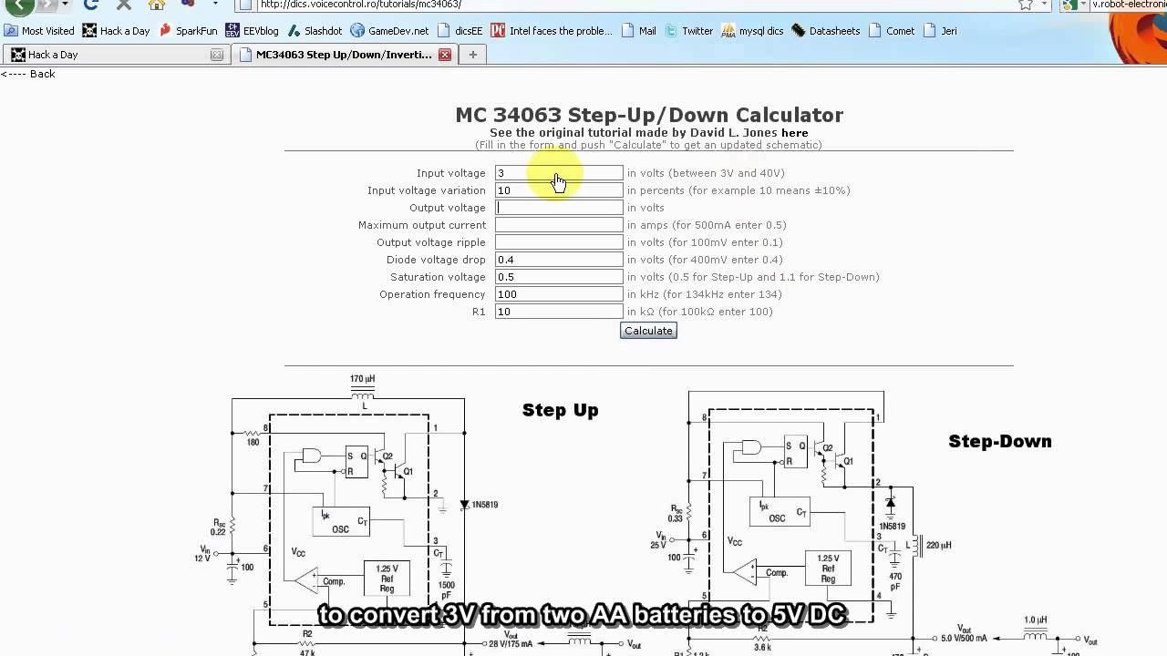 MC34063 Online Calculator.avi