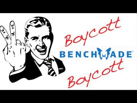 Benchmade Illegally Removes Video Content Making False Claims Of Copyright - BOYCOTT BENCHMADE