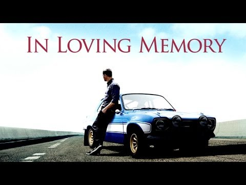 A Tribute To Paul Walker video