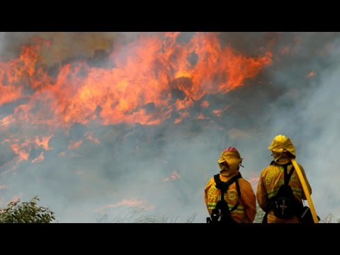 Enormous wildfires in California grow in heat wave