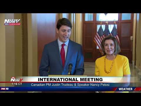 NBA FINALS BET Speaker Nancy Pelosi, Canadian PM Justin Trudeau exchange gifts