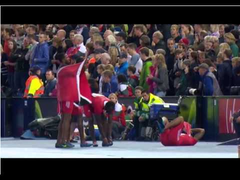 Jamaica's Usain Bolt men's 4x100 relay gold (Glasgow 2014)