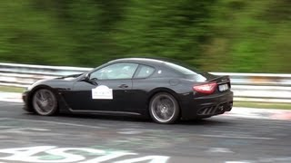 Maserati GranTurismo MC Stradale in action on the Nürburgring! Loud sounds!