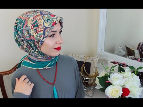 2 HIJAB TUTORIALS | USING A SQUARE SCARF - YouTube