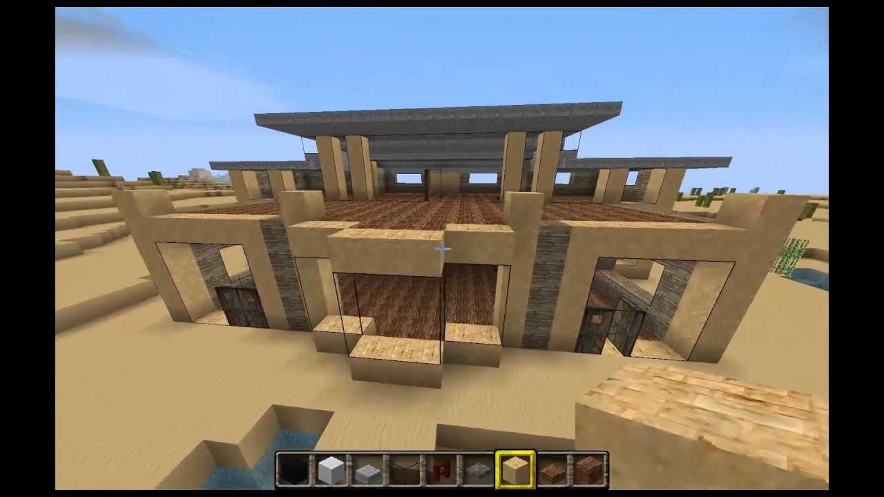 Minecraft tutorial construcci n de una casa moderna for Construcciones de casas modernas