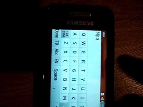 Samsung S5230 - To Do widget test