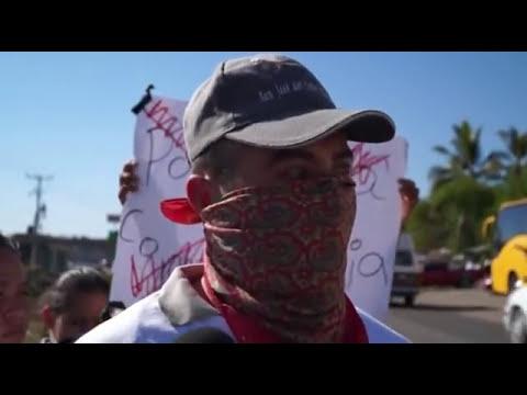Aparece grupo de defensa civil en Apatzingán
