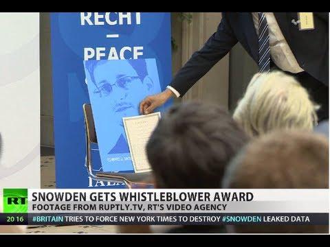 Snowden wins whistleblower award, as leaks fuel German election race