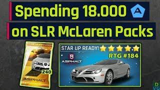 Asphalt 9 | Spending 18.000 Tokens on SLR Packs ( Max Stars ) | RTG #184