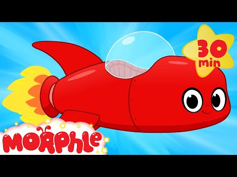 My Red Rocket Ship - My Magic Pet Morphle Compilation of Videos For Kids