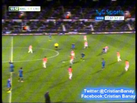 Argentina 2 Croacia 1 (Relato Matias Canillan) Amistoso Internacional 2014