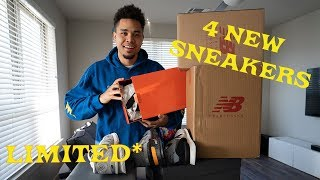 I DIDN'T KNOW THESE WERE LIMITED!! (4 NEW SNEAKER UNBOXINGS)