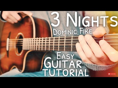 3 Nights Dominic Fike Guitar Tutorial // 3 Nights Guitar // Guitar Lesson #654