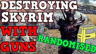 SKYRIM But All Weapons are FULLY RANDOMIZED IS BROKEN - Can You Beat Skyrim With Random Loot?