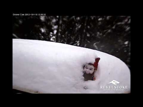 Gnorm Gets Burried!  First Snowfall of the Season - Oct 16-20 - Revelstoke Mountain Resort