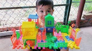 Trò Chơi Xây Nhà Để Xe Cho Bé ❤ ChiChi ToysReview TV ❤ Đồ Chơi Trẻ Em Baby Doli