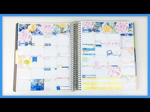 Plan With Me // August Monthly! (Erin Condren - Vertical)