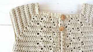 How to crochet a baby / children's pretty cardigan - the Orla cardigan
