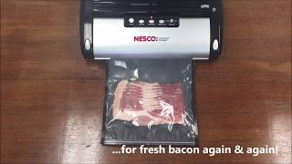 Vacuum Seal Bacon - Black Gallon Zipper Bag - Nesco - FoodVacBags