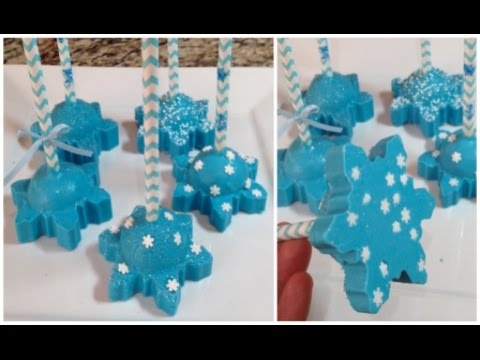 Frozen Snowflake Cake Pops (How To)