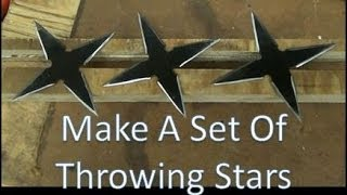 How To Make A Set Of Throwing Stars, Shuriken,  Real Metal, Easy To Make