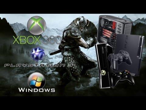 Elders Scroll's Skyrim - Xbox 360. Ps3 & PC comparison