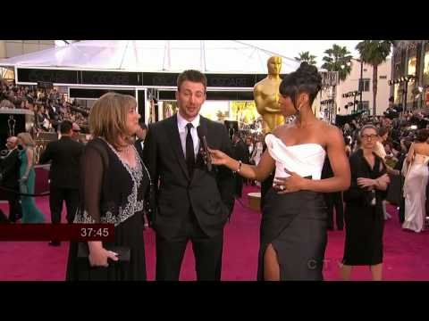 Chris Evans Oscars Red Carpet INTERVIEW 2013 Oscars Academy Awards