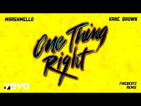 Download Lagu  Marshmello, Kane Brown - One Thing Right Firebeatz Remix Audio Mp3 Free