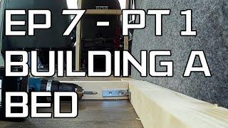 DIY Camper Build - Episode 7 Part 1 - Building a bed and new bulkhead