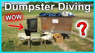 Dumpster Diving at Thrift Store #279 WOW So Much Stuff
