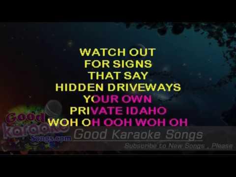 Private Idaho  - The B'52 (Lyrics Karaoke) [ goodkaraokesongs.com ]