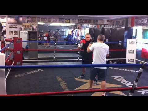Georges St-Pierre Training with Freddie Roach in Los Angeles Image 1