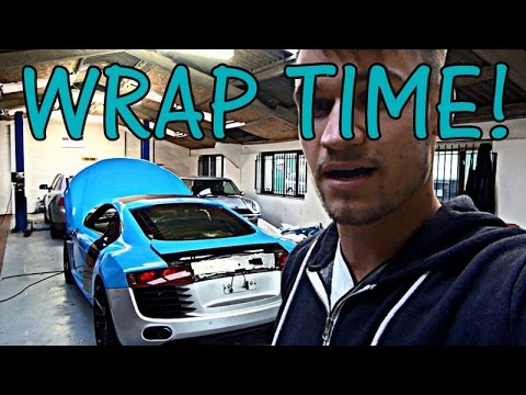 My Audi R8 Gets Wrapped: Baby Blue...BABY!!