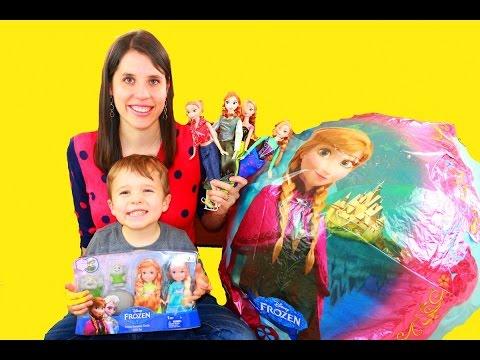 Frozen Disney Video Super Giant Anna Surprise Egg Let It Go Elsa Mega Huge Barbie Dolls video