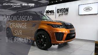 Madagascar Orange Range Rover SVR Detailed By Staffordshire Car Care Detailing | Xpel | Gyeon Quartz