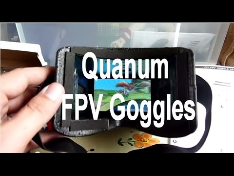 Quanum DIY FPV Goggle kit review Hobbyking cheapest video goggles ever ?