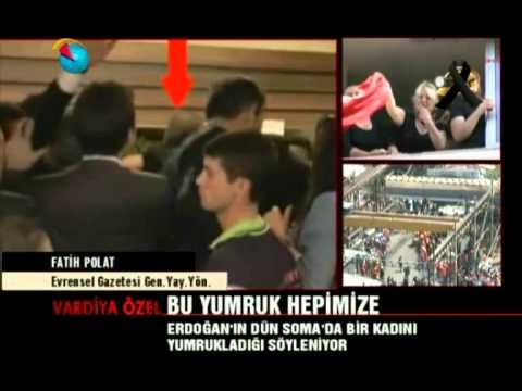 #BuYumrukHepimize - Erdoğan'ın Soma'da attığı yumruğun görüntüleri