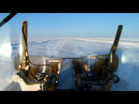 Building the ice road to the diamond mines NWT Canada