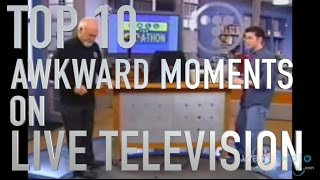 Top 10 Awkward Moments in Live TV (Quickie)