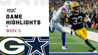Packers vs. Cowboys Week 5 Highlights | NFL 2019