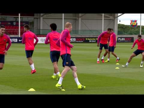 FC Barcelona training session: Wrap up training camp at ST. George's Park