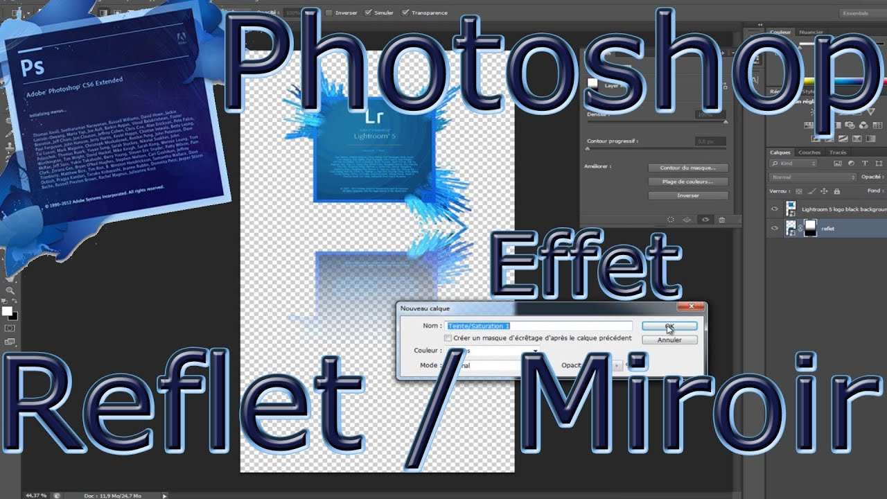 for Effet miroir photoshop cs5